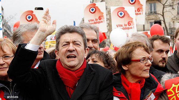 Francia: un tuit deja en evidencia la puesta en escena de Jean-Luc Mélenchon