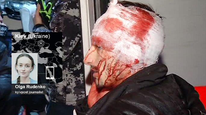 Célkeresztben az újságírók és operatőrök Kijevben
