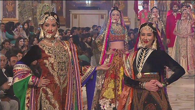 Pakistanische Brautmode auf der Bridal Couture Week