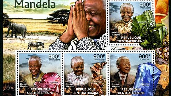 The postage stamp tributes to Nelson Mandela