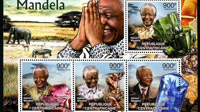 Les timbres en l'honneur de Nelson Mandela