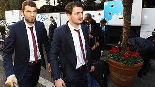 Trabzonspor Roma'da, taraftarlar Vatikan'da