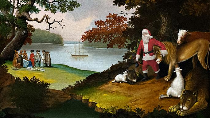 Artist Ed Wheeler injects festive fun into classic paintings
