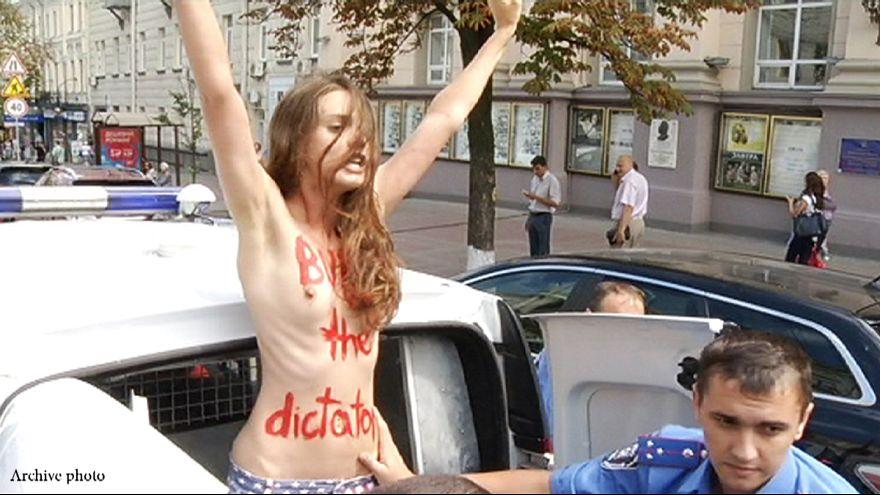 Shock at Femen activist's topless anti-Catholic protest in Vatican