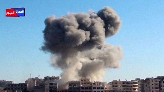 Ilyen egy szíriai hordóbomba- támadás