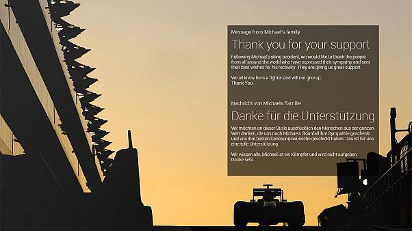 Michael Schumacher's family thanks fans for messages of support