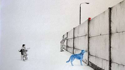 Paris's blue dog and wall of separation