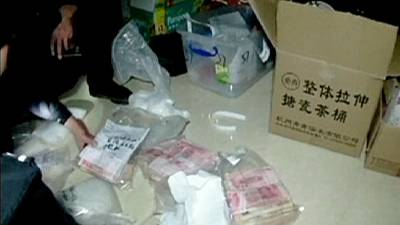 Chinese crystal meth production village busted