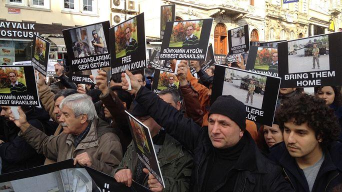 Meslektaşları Bünyamin Aygün için yürüdü