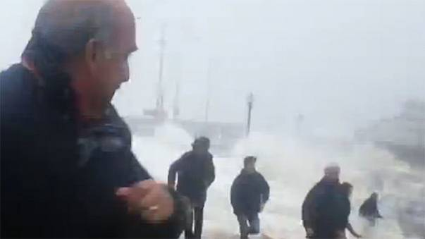 Watch: Massive waves pummel Europe's Atlantic coastline