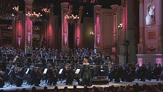 Renée Fleming beim Neujahrskonzert der Staatskapelle Dresden