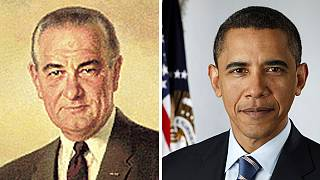 """The torch has passed: Obama takes over """"War on Poverty"""" from LBJ"""