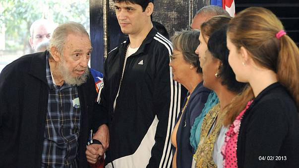 Fidel Castro saiu à rua