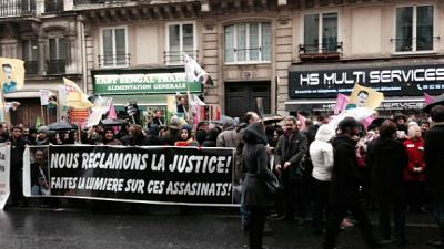 Manifestation à Paris un an après l'assassinat de 3 militantes kurdes