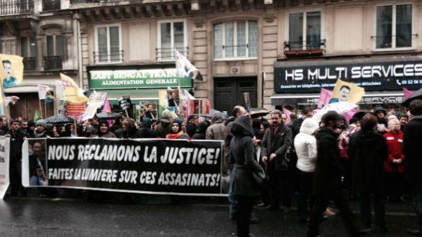 Manifestation à Paris un an après l'assassinat de 3 militantes kurdes