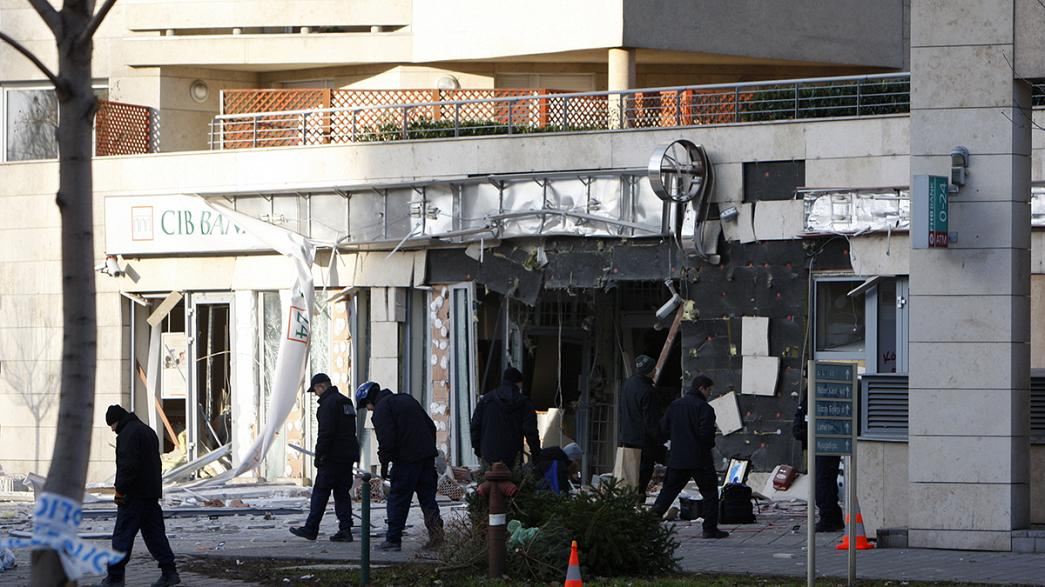 Bomb damages Budapest bank branch, no one hurt