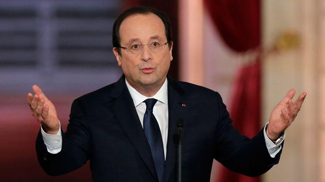 Fransa Cumhurbaşkanı Hollande krizle mücadele politikalarını savundu