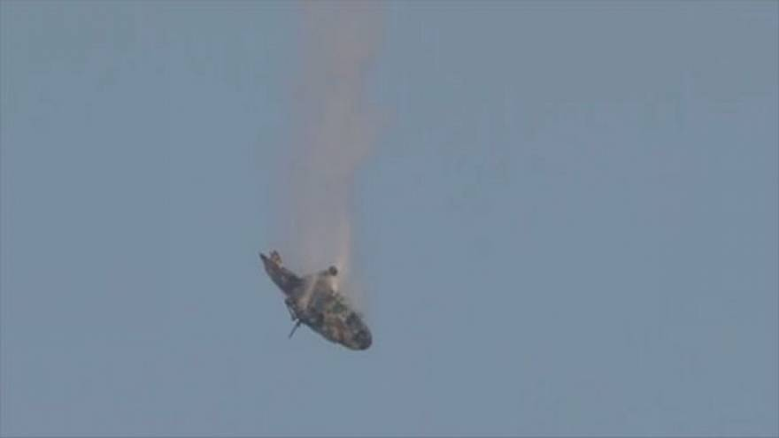 Video: Helicopter crashes to ground in Syria amid fierce fighting near Damascus