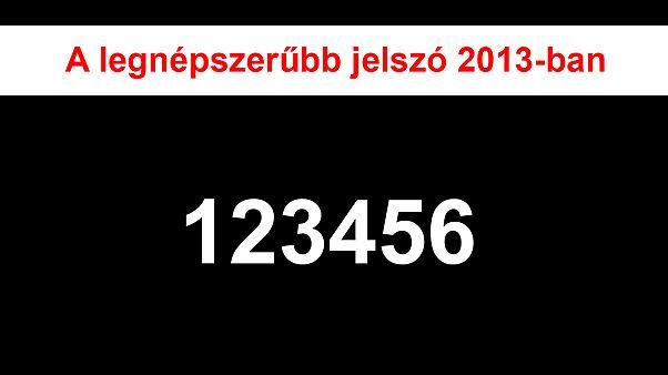 A web legnépszerűbb jelszavai 2013-ban