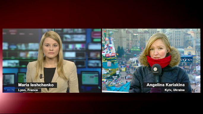 Kiev'de gösterilere şiddet bulaştı