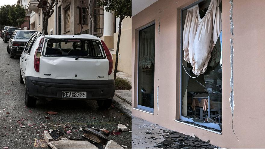 Greece: Aftermath of strong earthquake on Kefalonia island