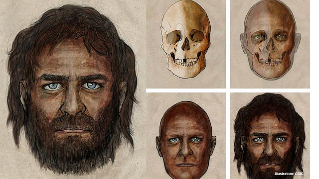 This is a European Hunter-gatherer before 7.000 years