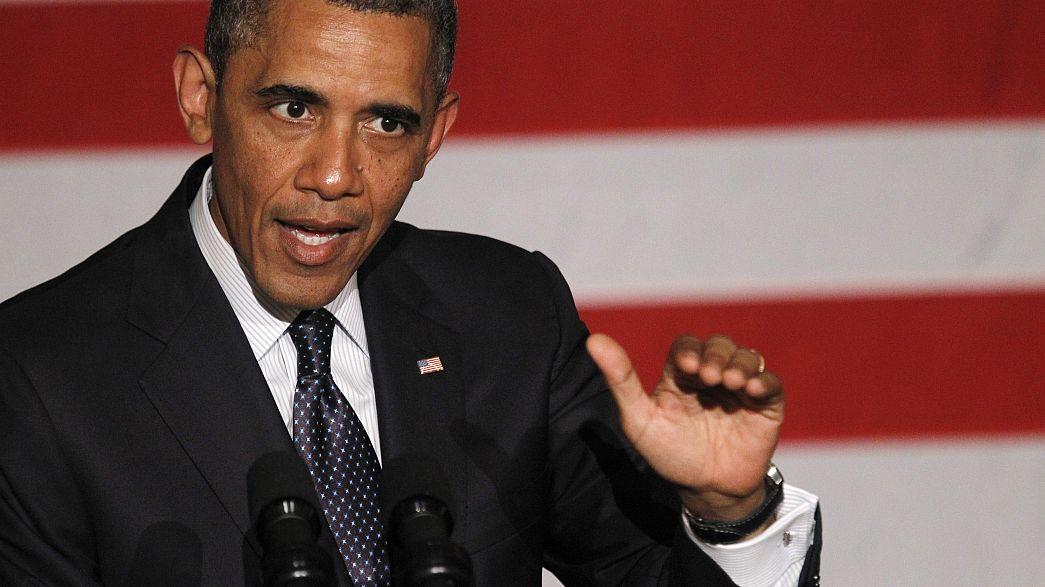Obama, voluntarioso y combativo