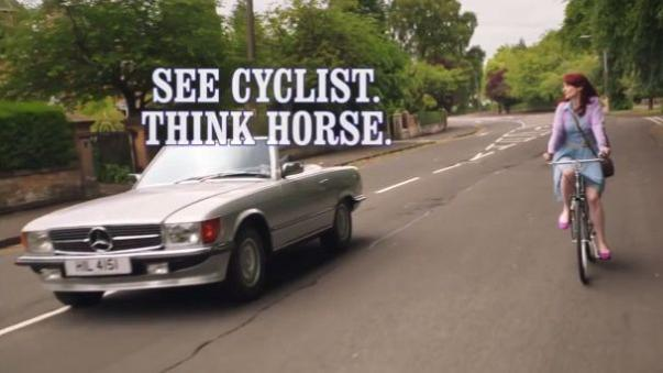 Irony as cycling safety advert banned because it features a rider without a helmet