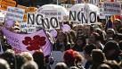 Madrid: Thousands join march against plans to restrict abortion