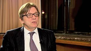 European Liberal Party's candidate for EC President, Guy Verhofstadt, on euronews