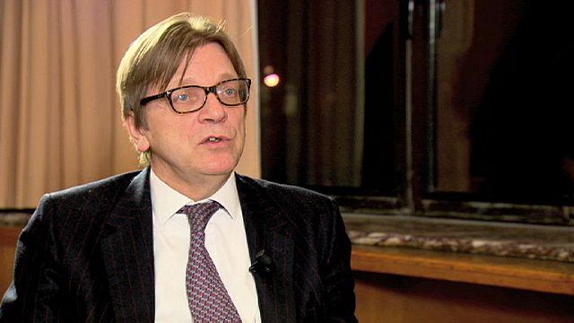 تقرير و مقابلة و تحليل سياسي حول ترشح غي فرهوفشتاد Guy Verhofstadt لرئاسة المفوضية الاوروبية.