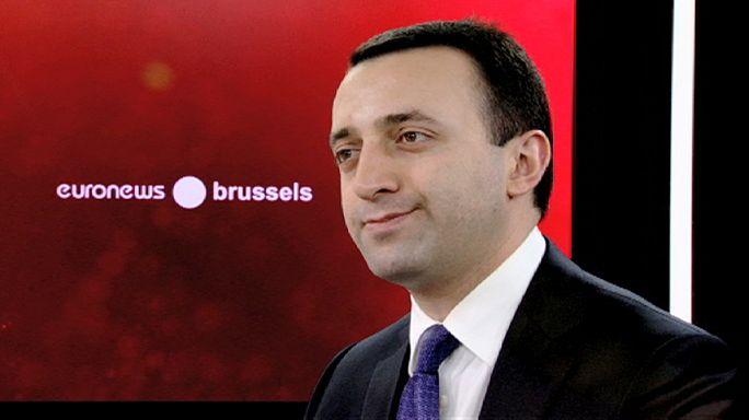 تقرير و مقابلة حول زيارة رئيس وزراء جورجيا الى بروكسل.