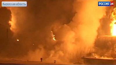 Russia: fuel train derails, catches fire near Kirov