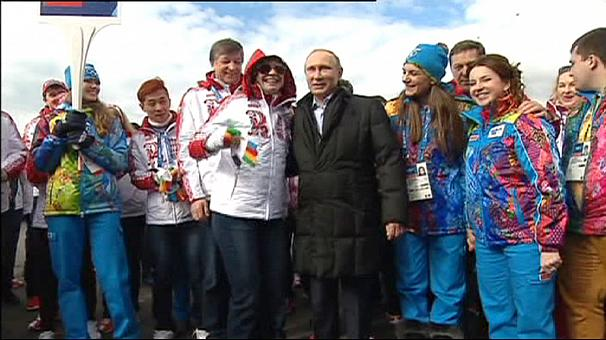 Olympic flame arrives in Sochi as Putin says security a major concern