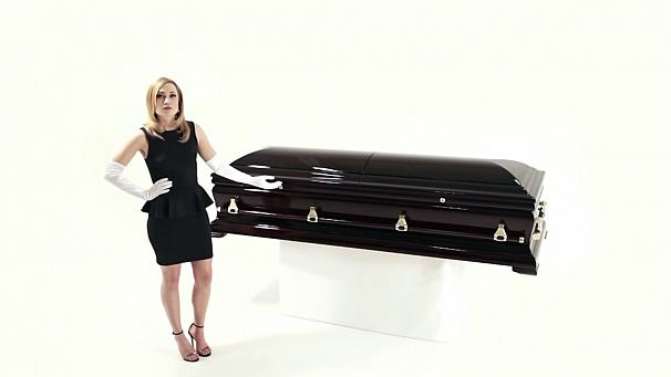 No rest for the dead with surround-sound coffin