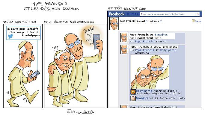 Un pape à la fois rocker, biker, twitteur, on en perd son latin !