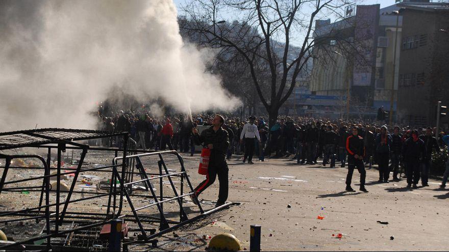 Dramatische Bilder der Proteste in Bosnien