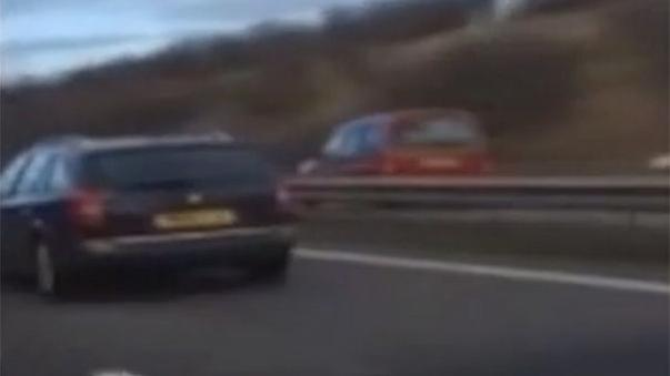 Watch: Motorist, 81, causes mayhem by driving on wrong side of UK road for 16km