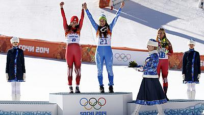 Maze and Gisin share gold in first ever Olympic Alpine skiing tie
