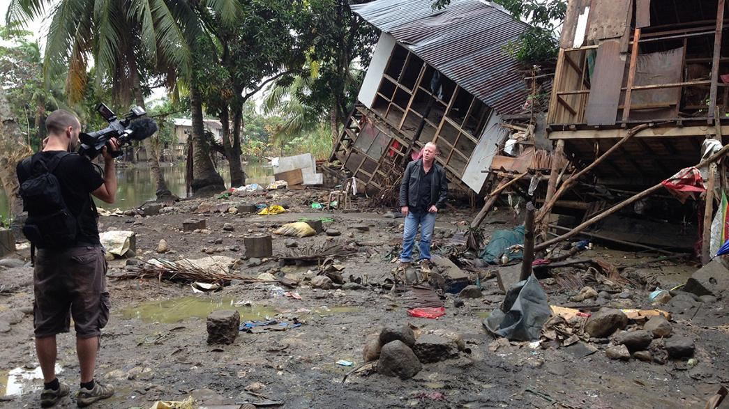 À mercê dos tufões, nas Filipinas