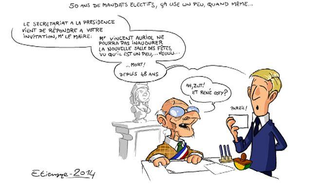 Le maire qui a connu 9 présidents de la République française