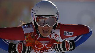 Sortie de piste pour le ski alpin francais à Sotchi