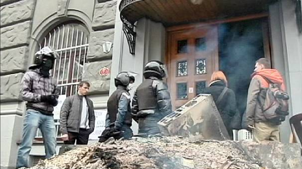 Disturbances escalate in western Ukraine