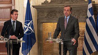 Κοινή έκκληση Σαμαρά-Ράσμουσεν για σταθερότητα στην Ουκρανία