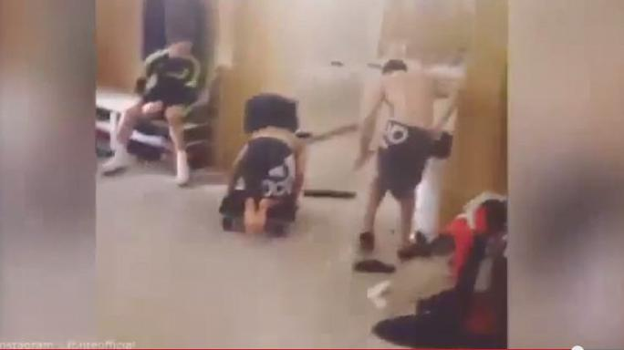 Watch: Footballers invent 'human curling' in tribute to British success at Sochi Winter Olympics