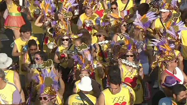Brazil street party ahead of main Rio carnival celebration