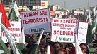 Thousands march in Pakistani capital against Taliban