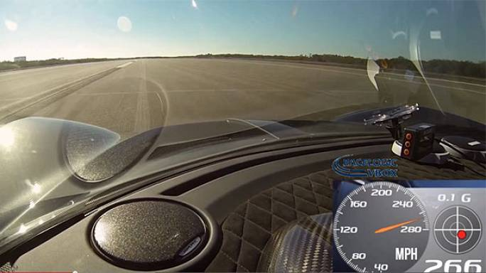 Watch: Sports car tops 270mph to spark world speed record claim