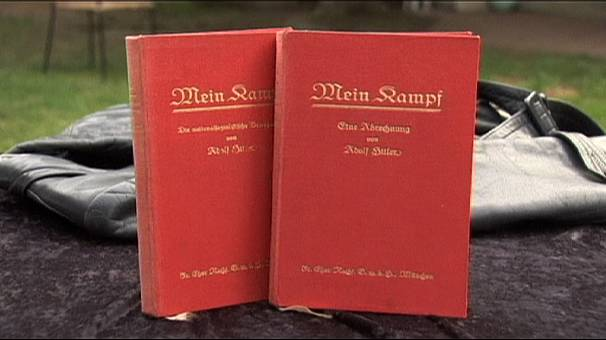 "Copies of ""Mein Kampf"" signed by Hitler go up for auction in US"