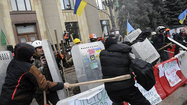 Ukraine: Violent clashes in Kharkiv leave dozens injured